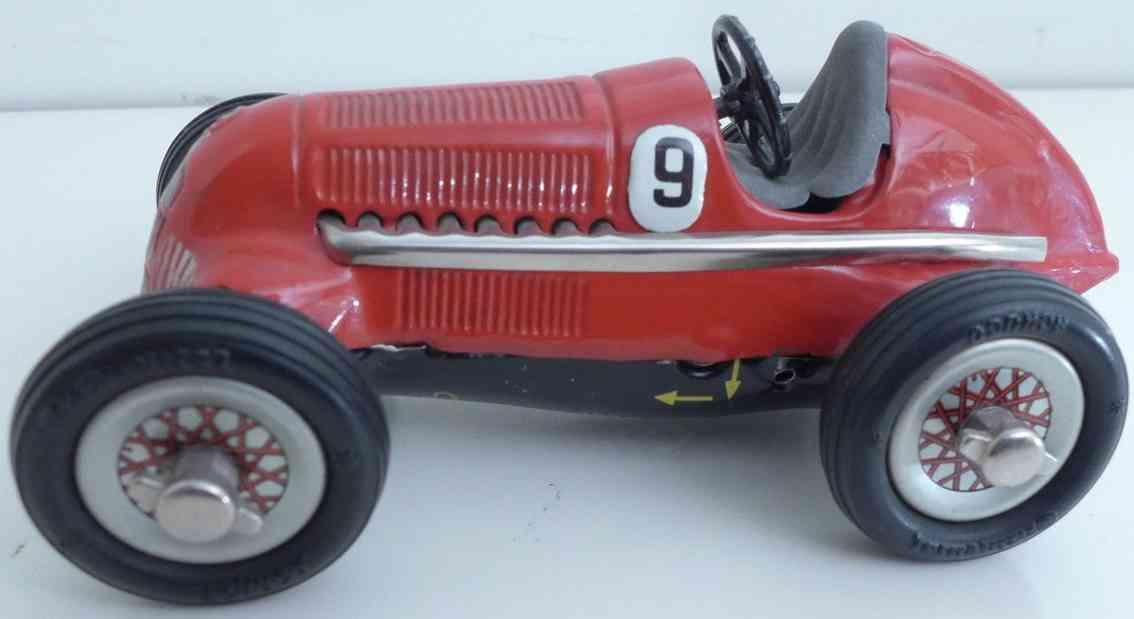 schuco 1050/9 blech spielzeug rennauto rennwagen studio in rot