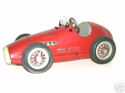 schuco 1070 blech spielzeug rennauto grand prix racer rot