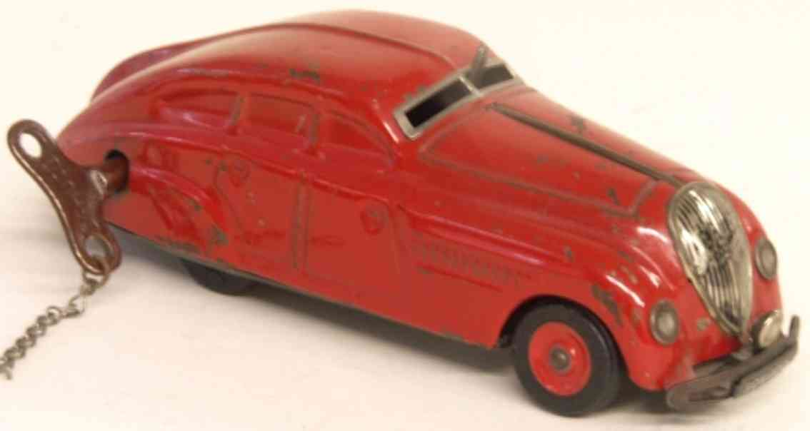Schuco 1750 Rotes Garagen-Auto