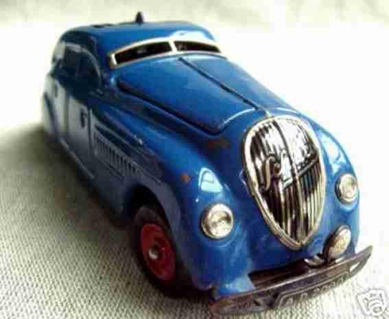schuco 2000 blech spielzeug kommando-auto blau