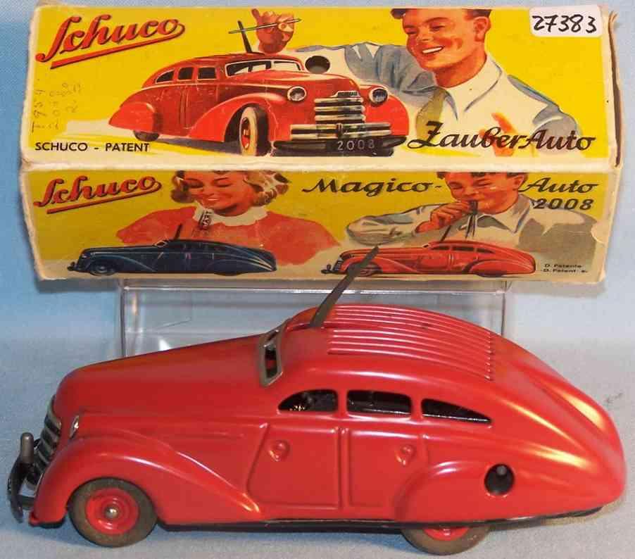 schuco 2008 blech spielzeug auto magico-auto rot