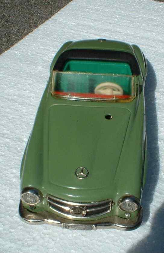 schuco 2097 blech spielzeug auto baukastenauto, maßstabsgetreues modell 190 sl mercedes