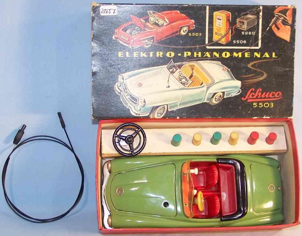 schuco 5503 tin toy car elektro phanomenal