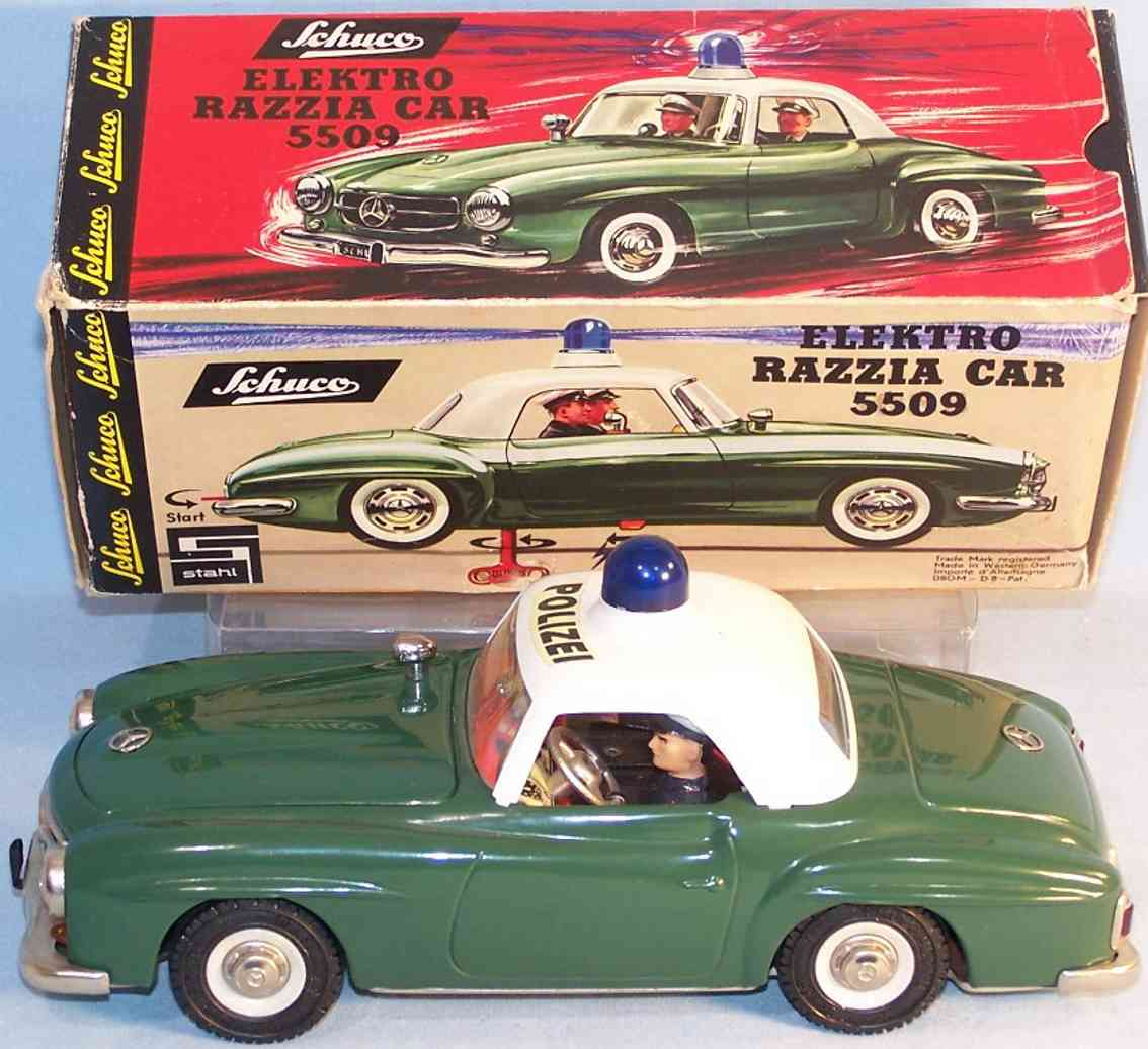 schuco 5509 tin toy car electric-razzia-car