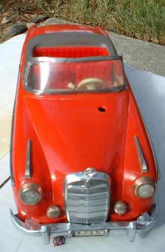 schuco 5720 tin toy car hydrocar plastic red