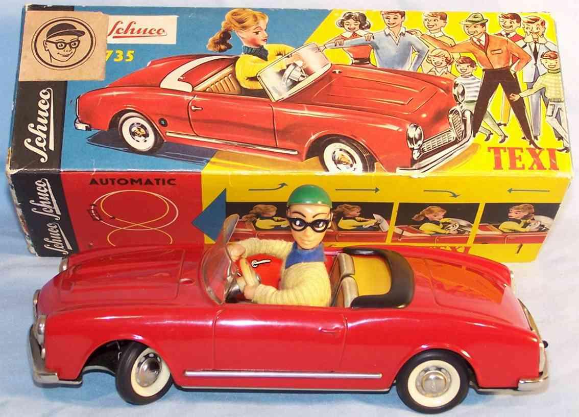 schuco 5735 tin toy dalli car red