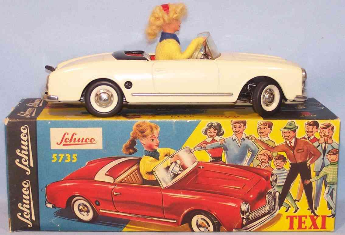 schuco 5735 tin toy car texi white