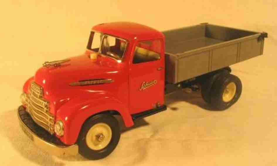 schuco 6065 tin toy truck electro-construction tipping car