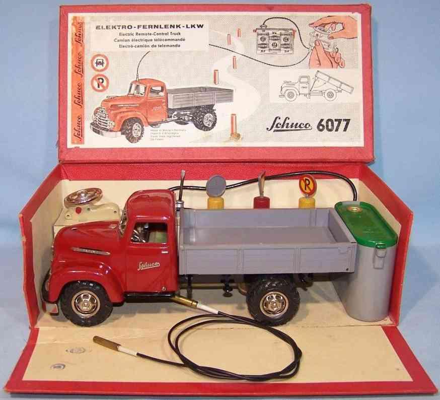 schuco 6077 blech spielzeug elektro-fernlenk-lastwagen