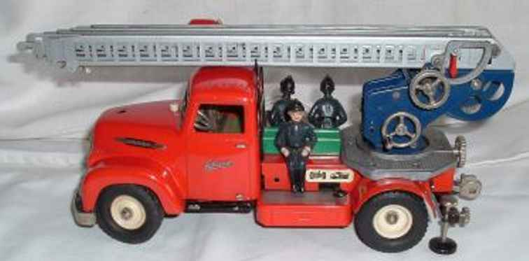 schuco 6080 tin plastic toy engine electric constructions fire department car