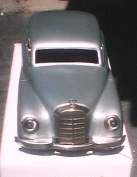 schuco blech spielzeug auto jnf mercedes 300,blau metallik