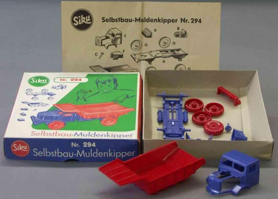 siku 294 plastik spielzeug auto selbstbau muldenkipper