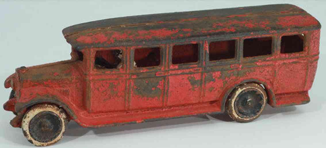 skoglund & olson red spielzeug gusseisen bus rot replika