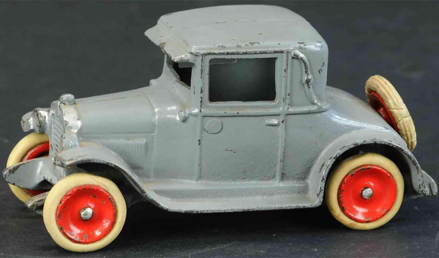 skoglund & olson cast iron toy car chevy coupe  grey