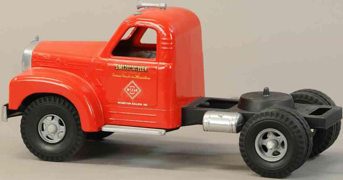 smith-miller blech spielzeug lastwagen mclean mack zugmaschine rot
