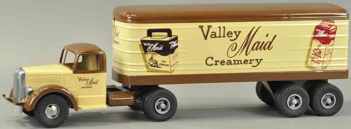 smith-miller blech spielzeug lastwagen kundenwagen valley maid creamery