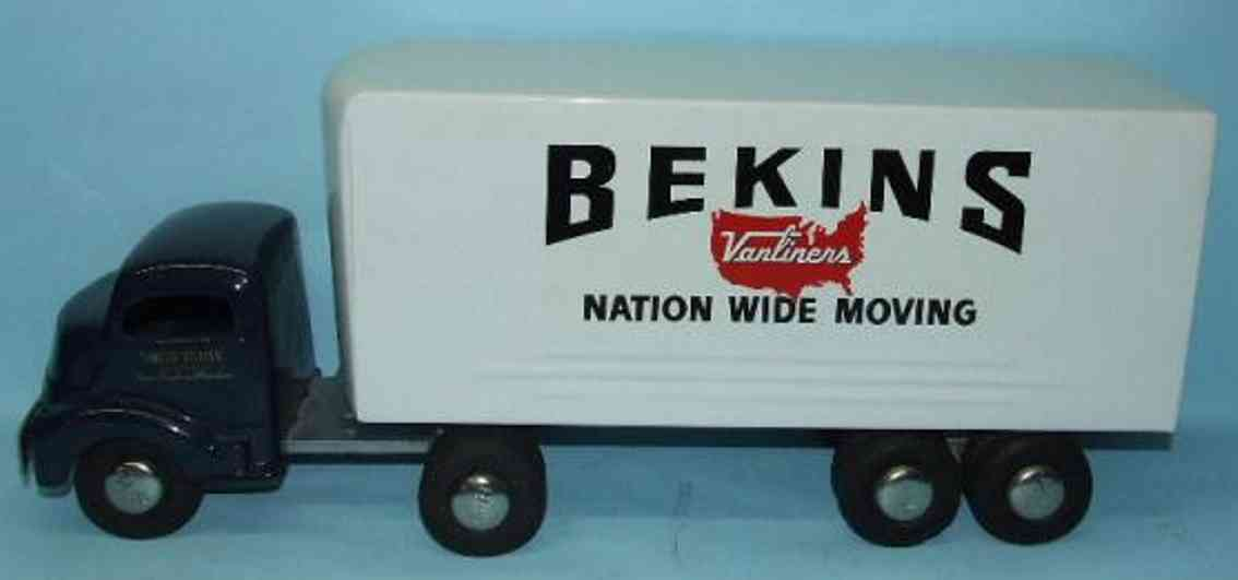 smith-miller tin toy gmc truck bekins vanliners nation wide moving
