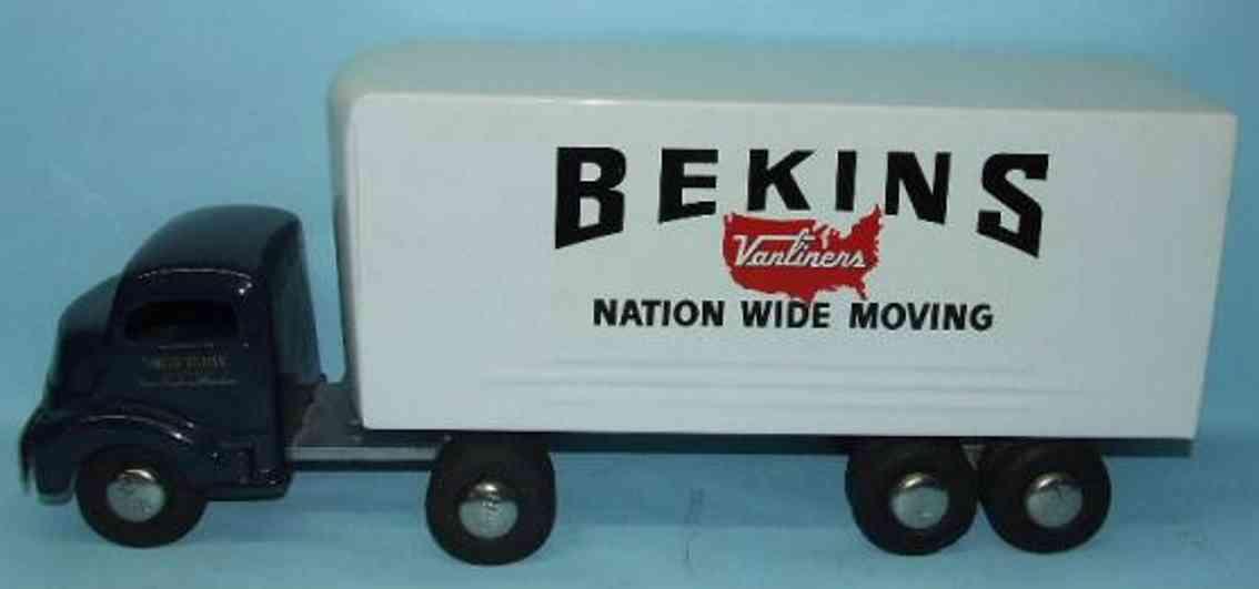 smith-miller blech spielzeug lastwagen bekins
