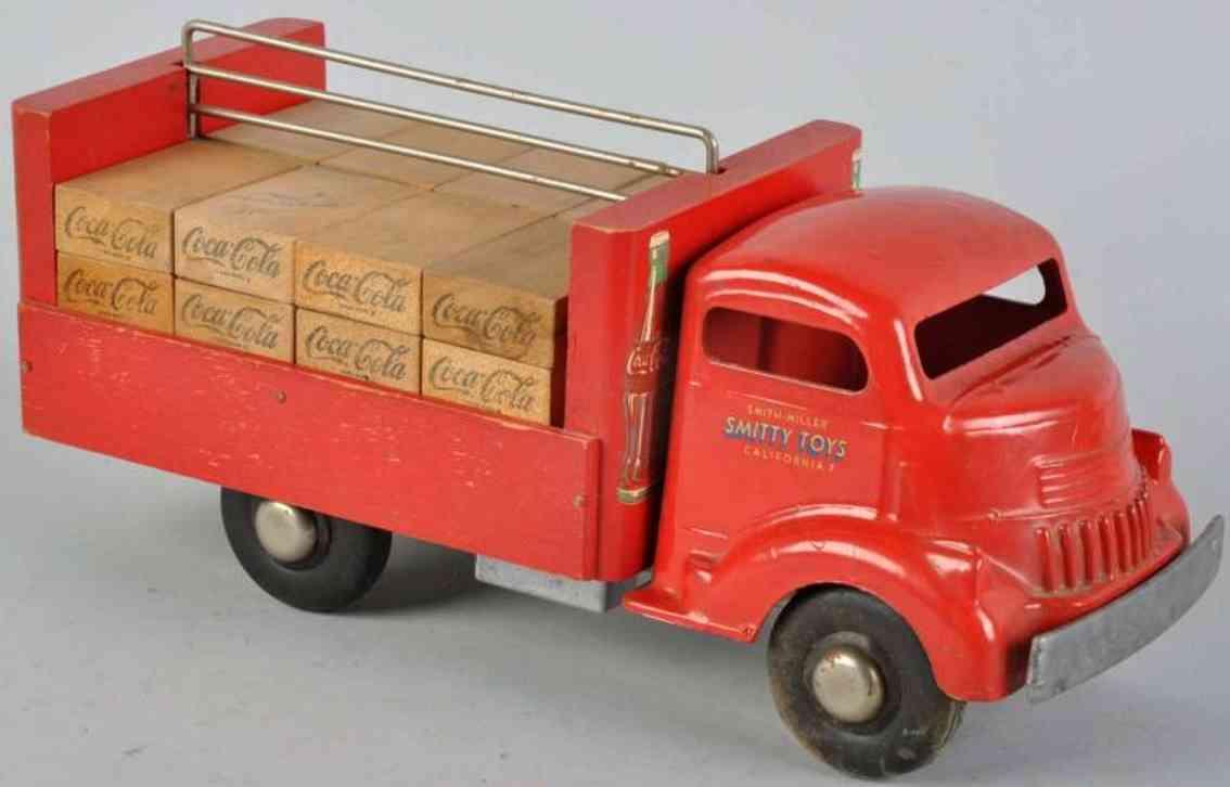 Smith-Miller Coca Lieferwagen aus Metall und Holz in rot