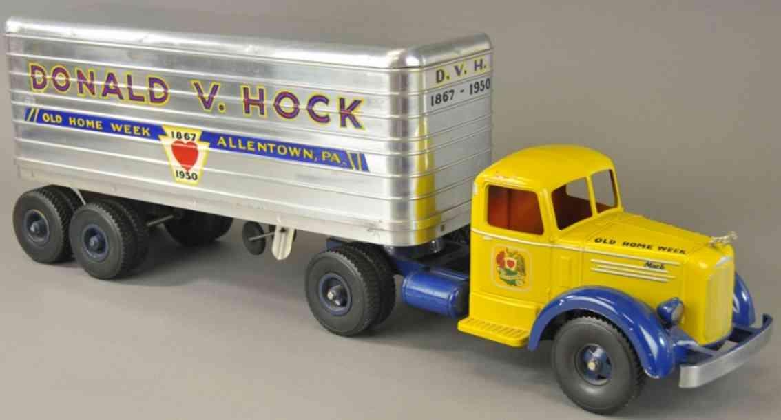 smith-miller donald d hock blech l mack lastwagen gelb blau aluminium