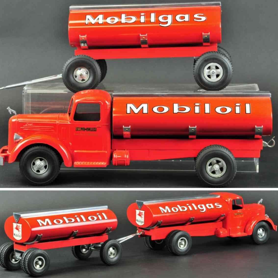smith-miller spielzeug druckguss tanklastwagen anhaenger rot