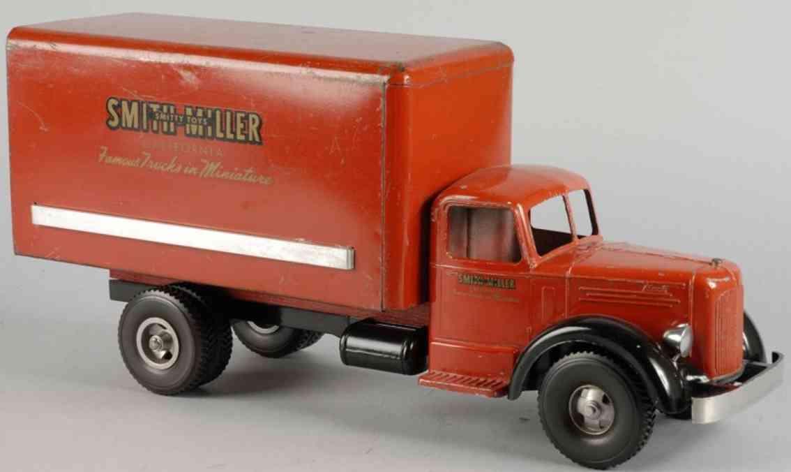 smith-millerstahlblech spielzeug umzugswagen rot