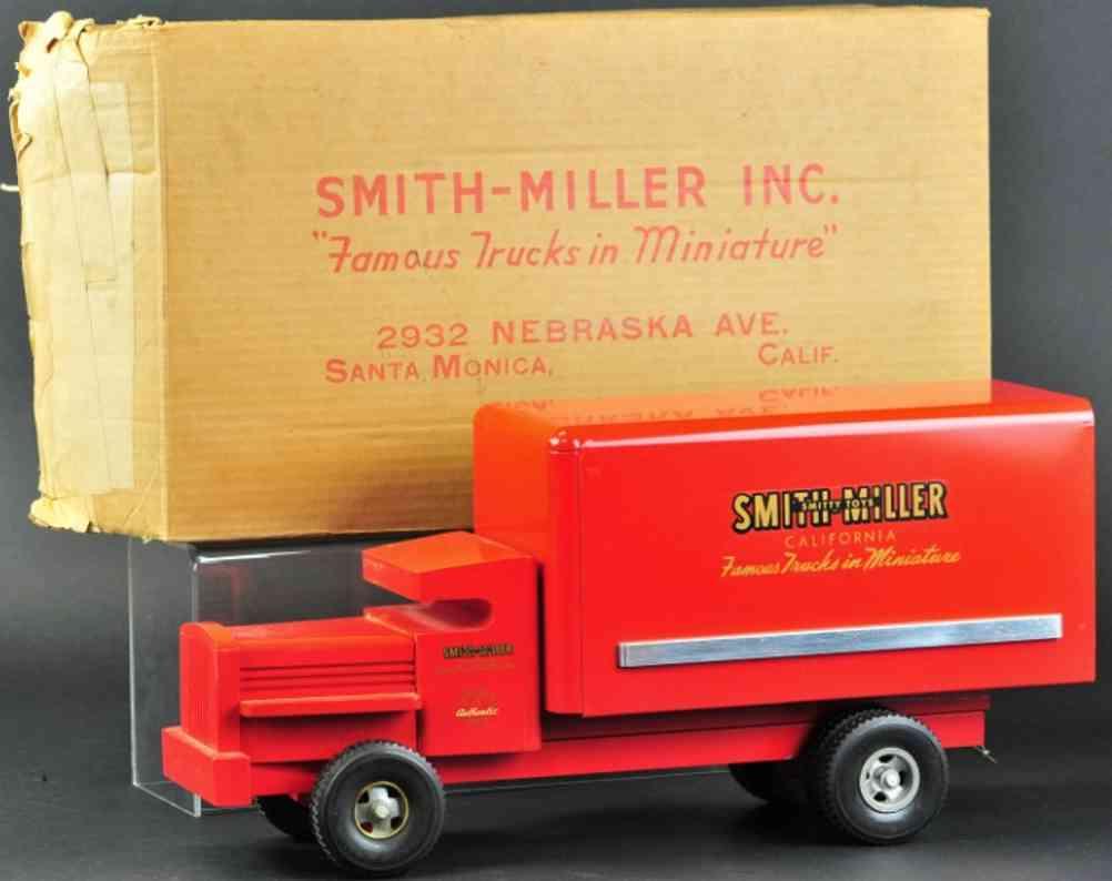 smith-miller stahl spielzeug prototyp lieferwagen rot