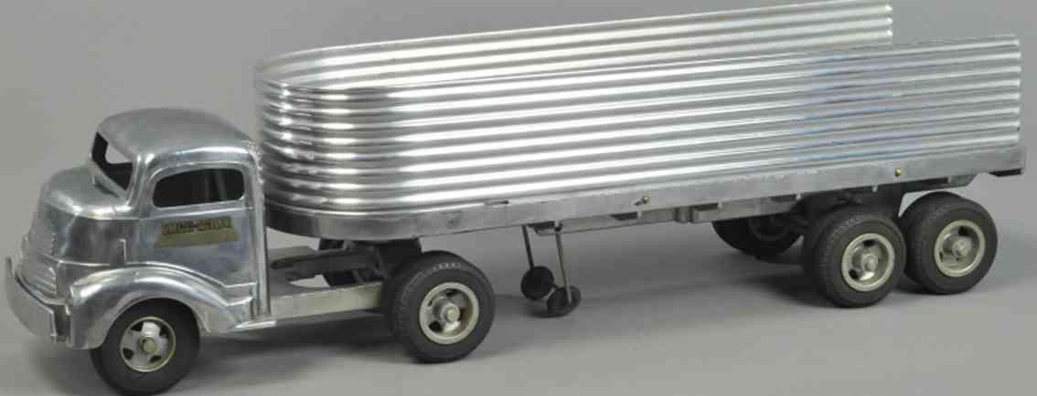 smith-miller spielzeug gmc fahrerhaus sattelanhaenger aluminium