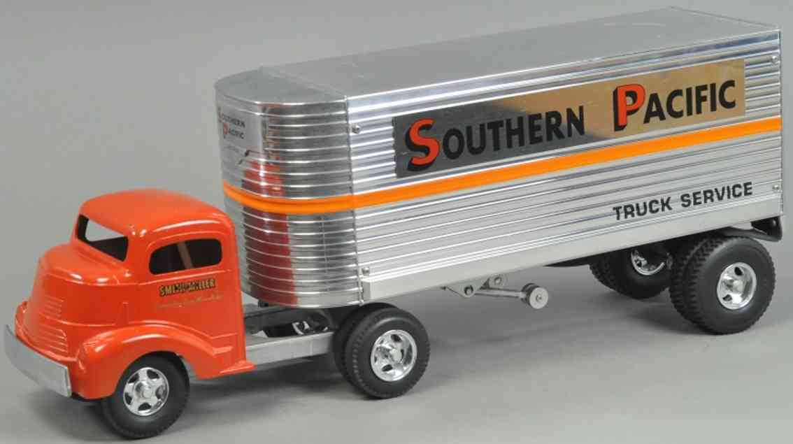 smith-miller spielzeug gmc fahrerhaus fred thompson southern pacific anhaenger