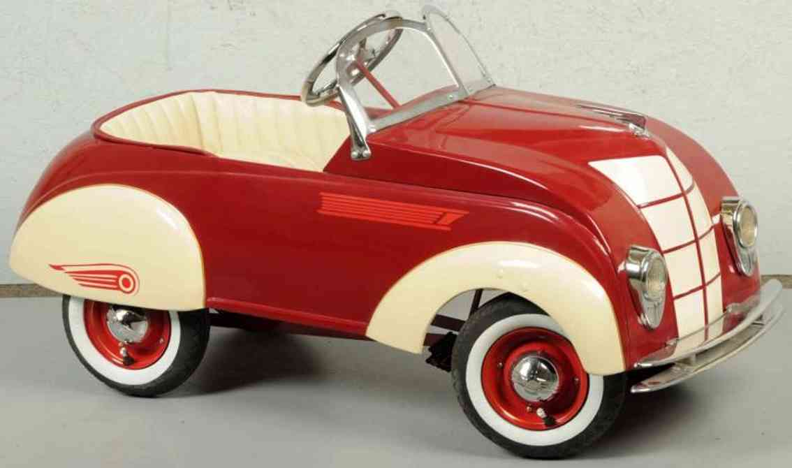 steelcraft pressed steel toy air-flow pedal car chrysler