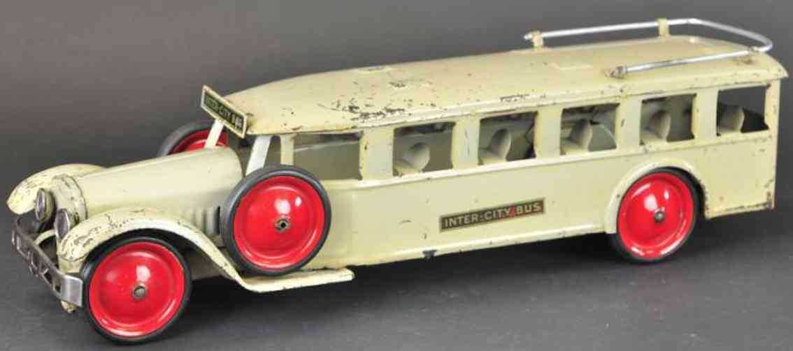 steelcraft stahlblech spielzeug intercity bus weiss
