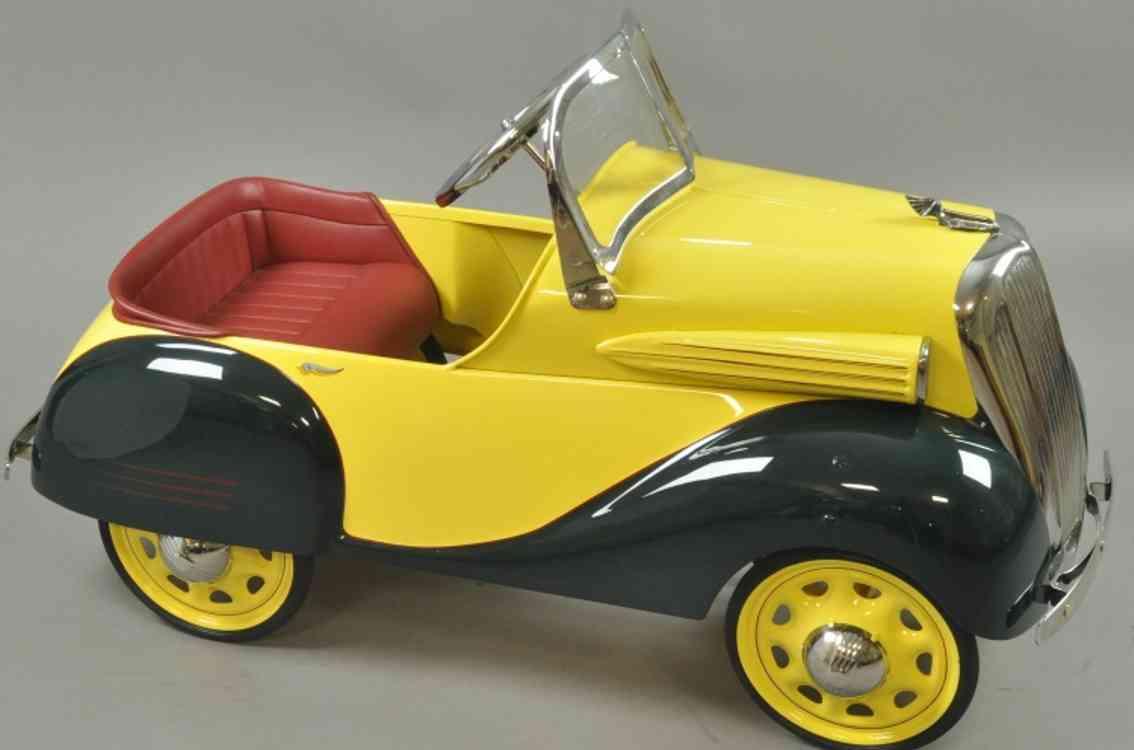 steelcraft spielzeug chevrolet tretauto stahlblech gelb gruen