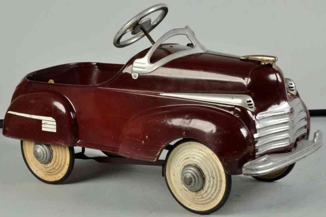steelcraft pressed steel toy murray chrylser pedal car
