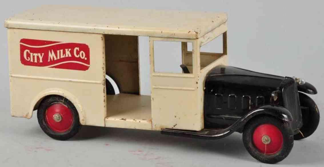 steelcraft spielzeug city milk lieferwagen aus stahlblech