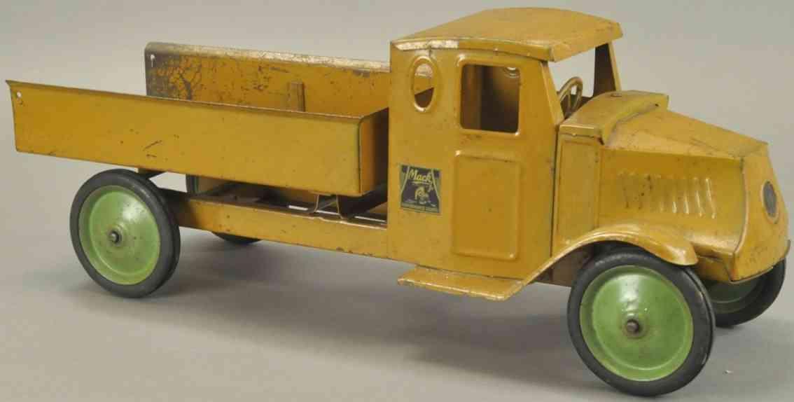 steelcraft stahlblech spielzeug kipplastwagen braun