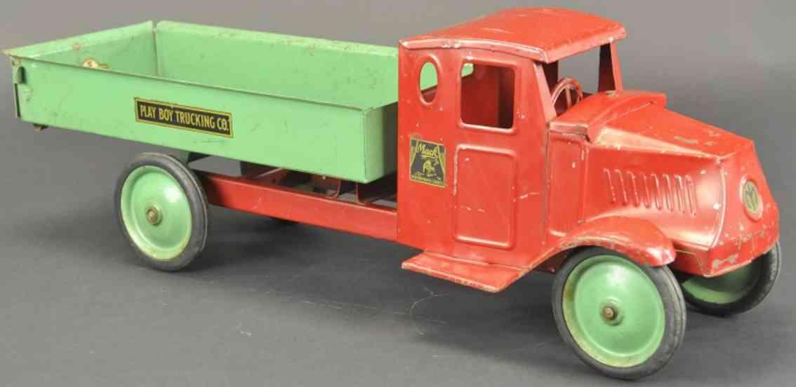 steelcraft lech spielzeug kipplastwagen fixierter lenker rot gruen