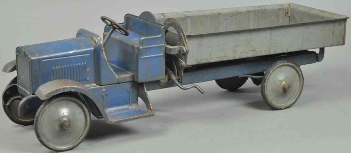 steelcraft spielzeug auto gmb kipplastwagen stahlblech blau