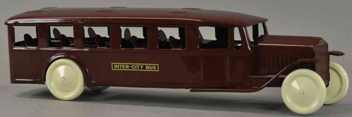 steelcraft tin toy inter-city bus