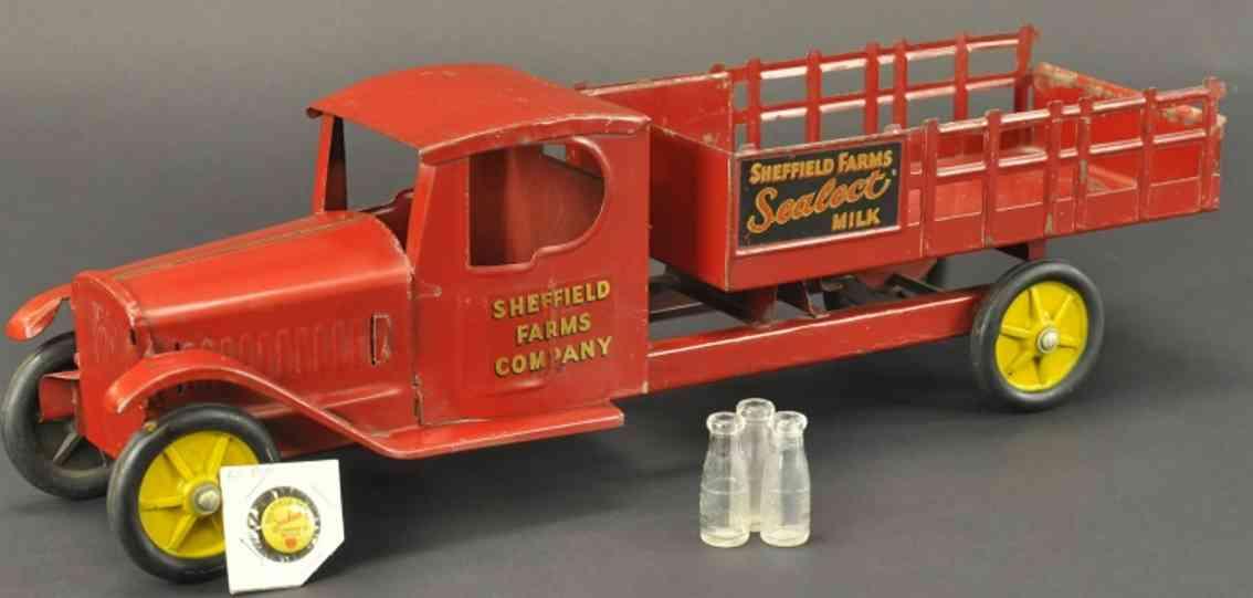 steelcraft blech spielzeug milch lastwagen rot sheffield farms co