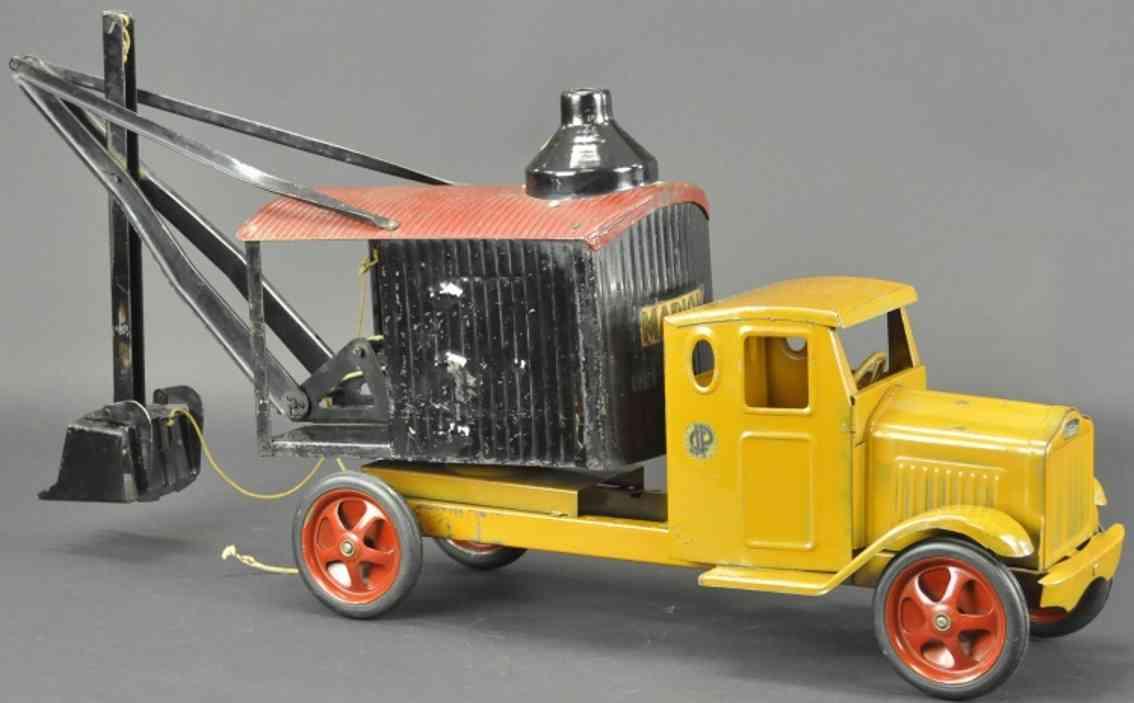 steelcraft stahlblech spielzeug lil jim schaufelbagger lastwagen