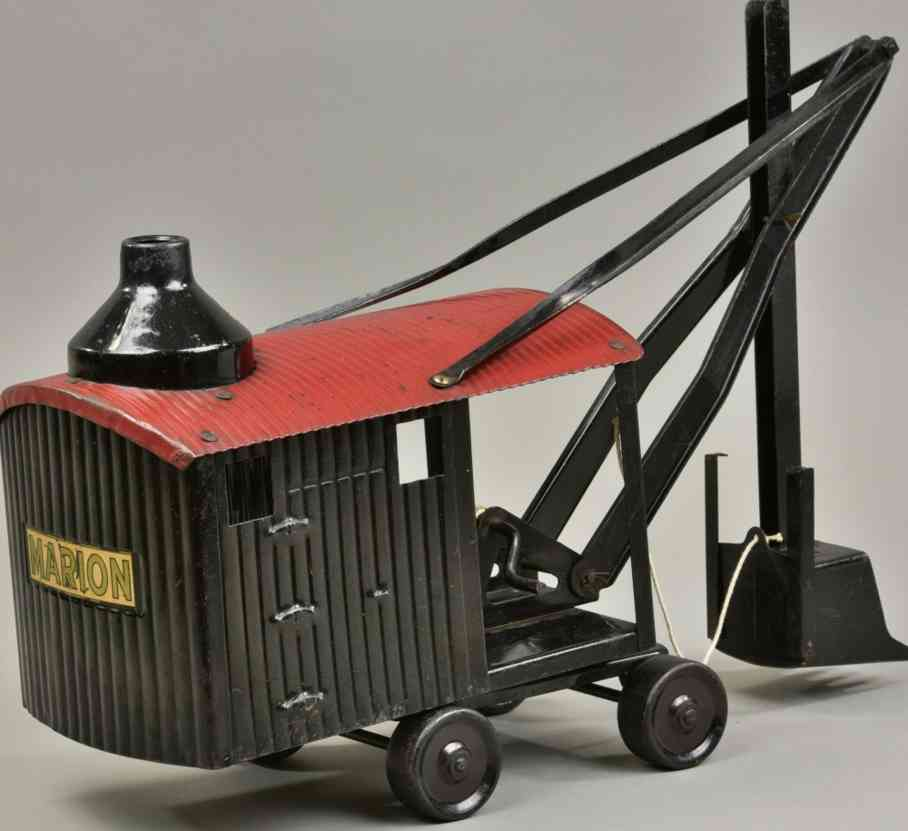 steelcraft blech spielzeug bowman dampfschaufelwagen schwarz rot marion