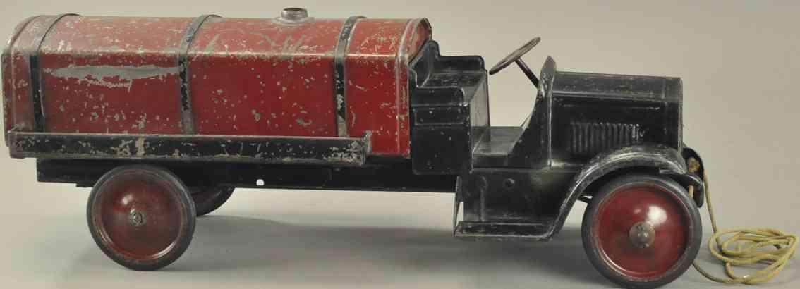 steelcraft blech spielzeug tankwagen schwarz rot