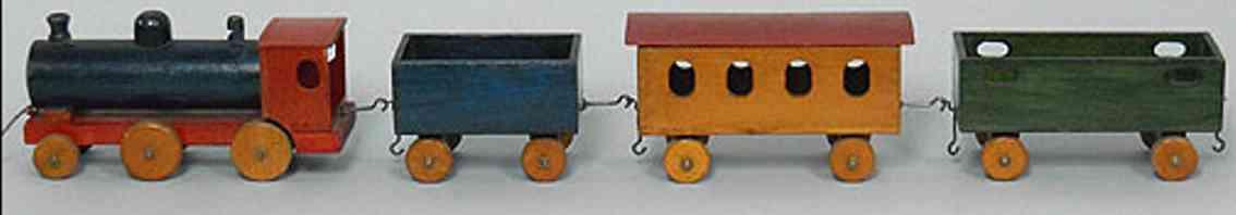 steiff coloured wooden train eisba 85/10/4