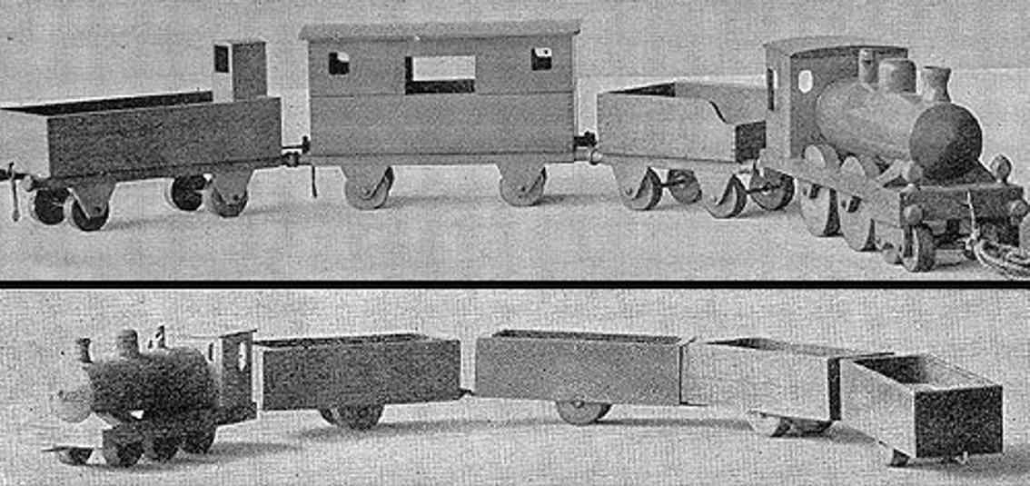 steiff wooden toy trains 1916