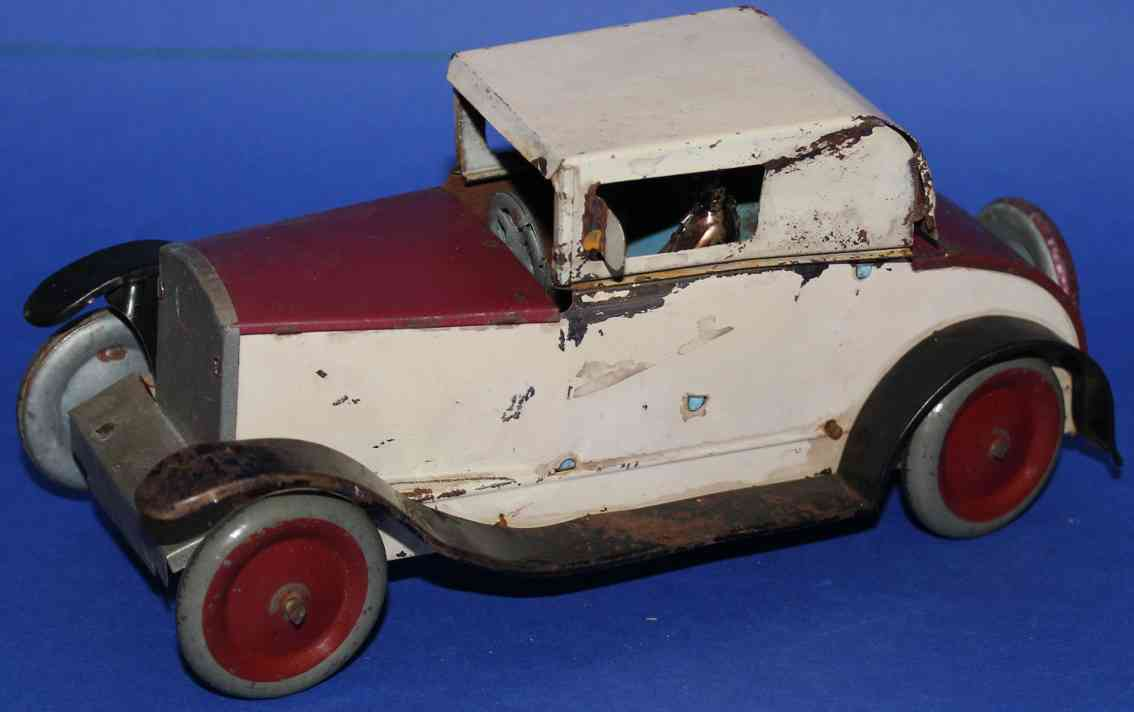 stock walter 316 herrenfahrer tin toy car cabrio wind-up toy without lines