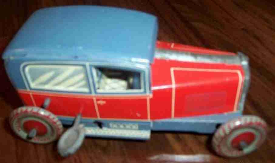 stock walter 462 blech spielzeug auto kleine limousine rot grau