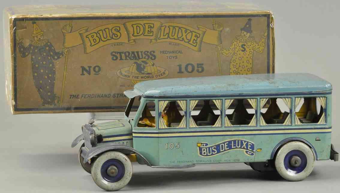 strauss 105 blech spielzeug autobus deluxe