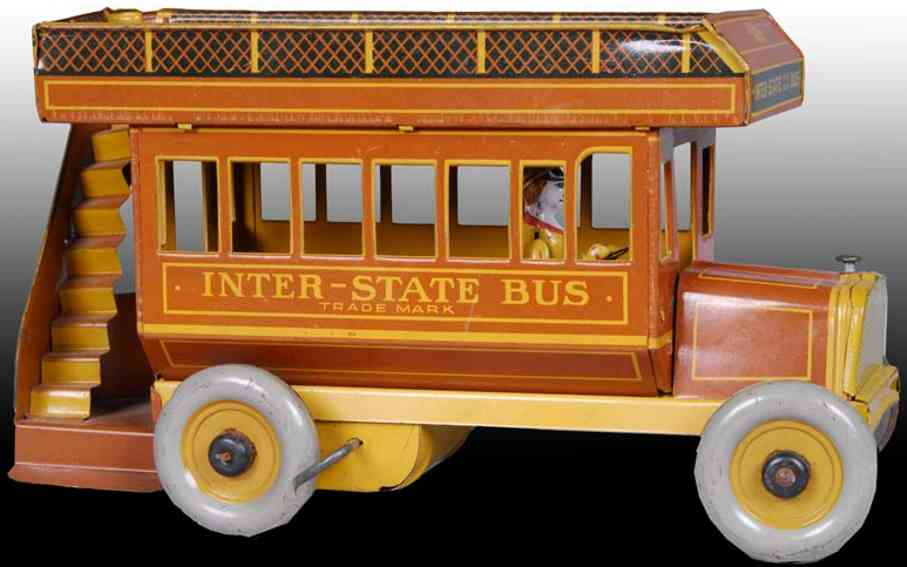 strauss 109 blech spielzeug inter-state-doppeldeckerbus