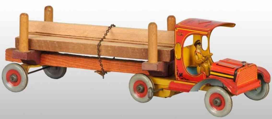 strauss ferdinand 112 blech spielzeug lastwagen uhrwerk