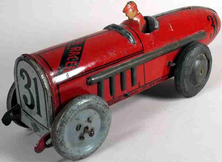 Strauss 31 Roter Blitz Rennwagen
